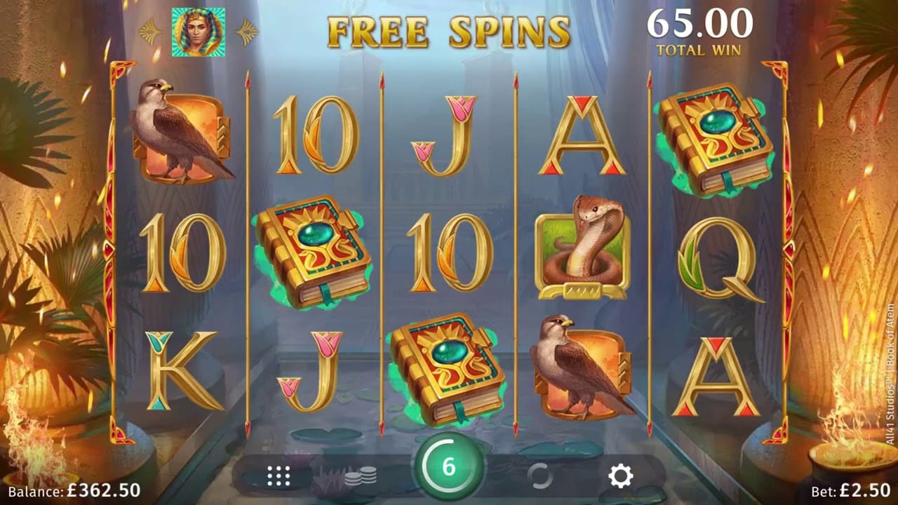 Book of Atem Slots Game