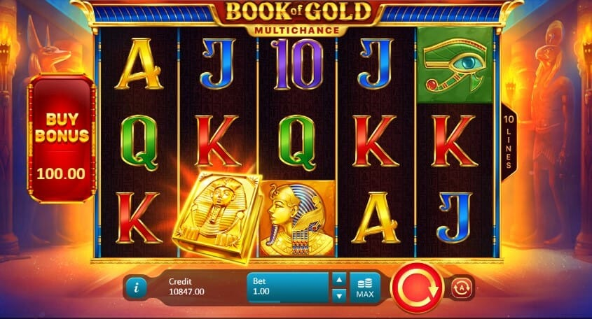 Book of Gold Multichance Slot Gameplay