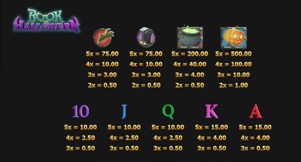 Book of Halloween Slot Bonus