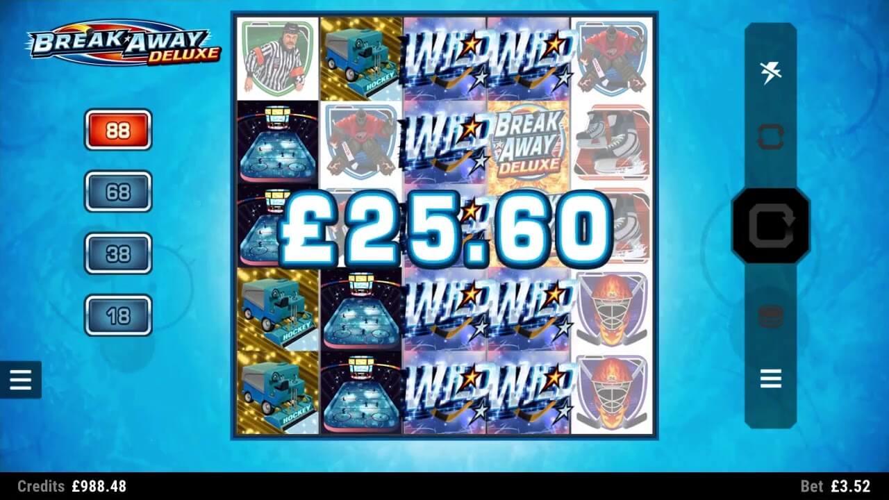 Break Away Deluxe Slot Gameplay