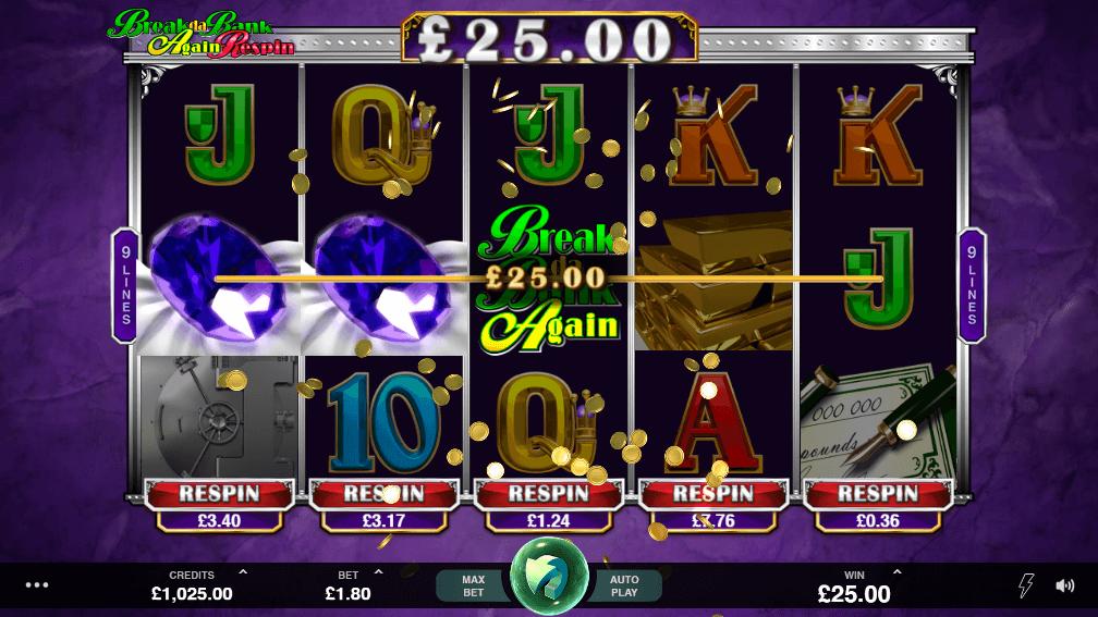 Break Da Bank Again Respin Slot Bonus