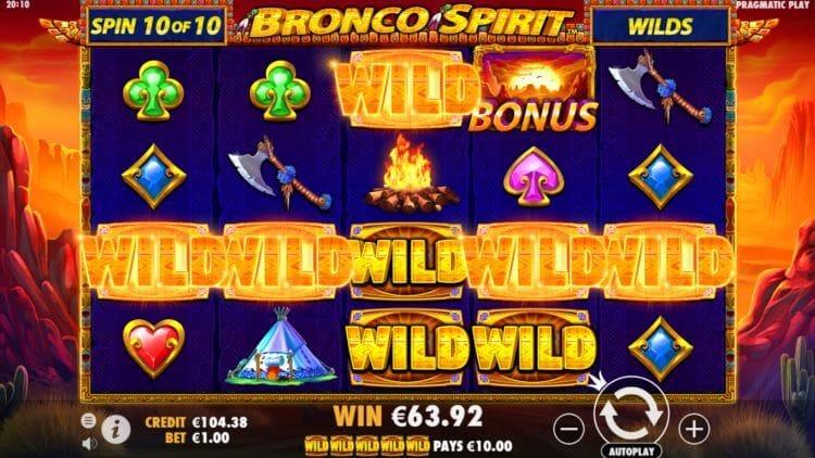 Bronco Spirit Slot Gameplay