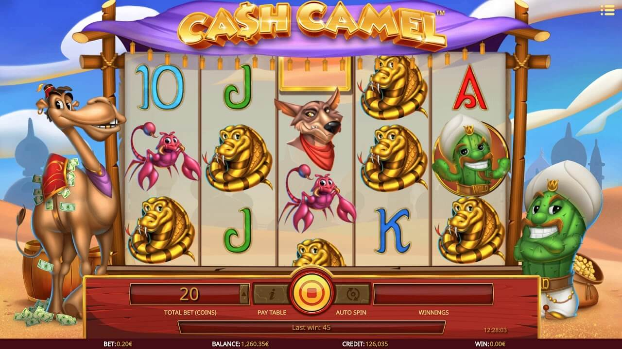 Cash Camel Slot Gameplay