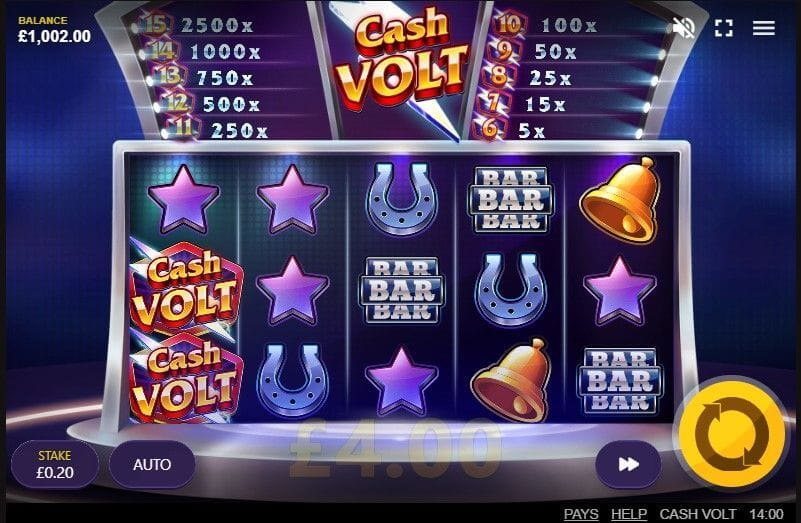 Cash Volt Slot Gameplay