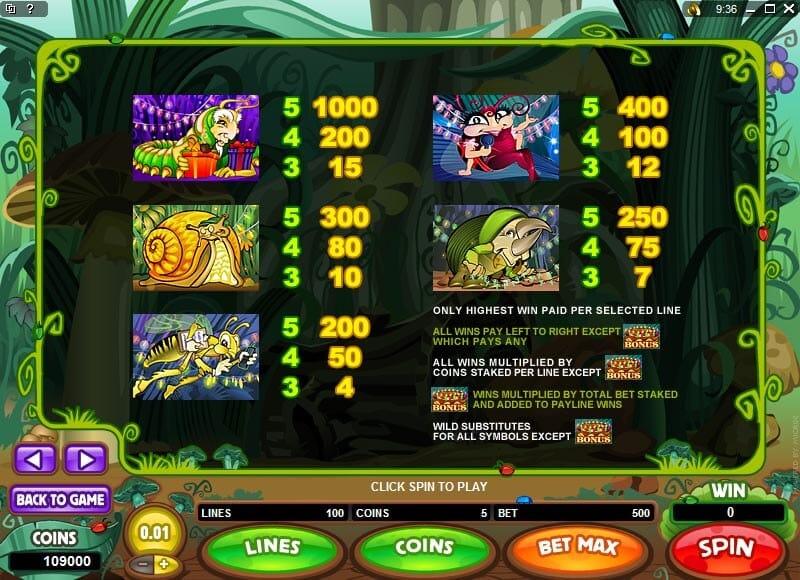 Cashapillar Slot Bonus