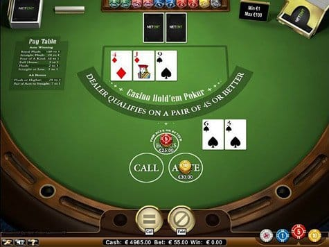 Casino Holdem Gameplay