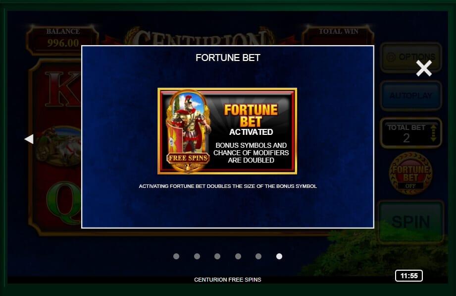 Centurion Slot Bonus