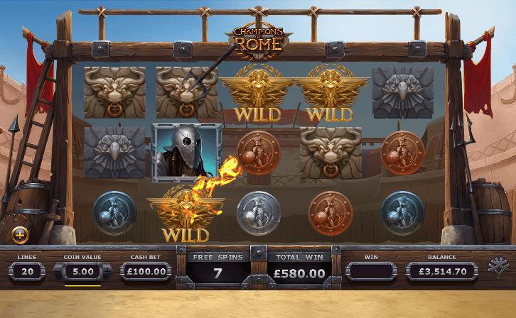 Champions of Rome Slot Bonus