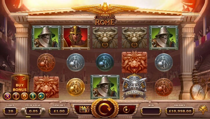 Champions of Rome Slot Gameplay
