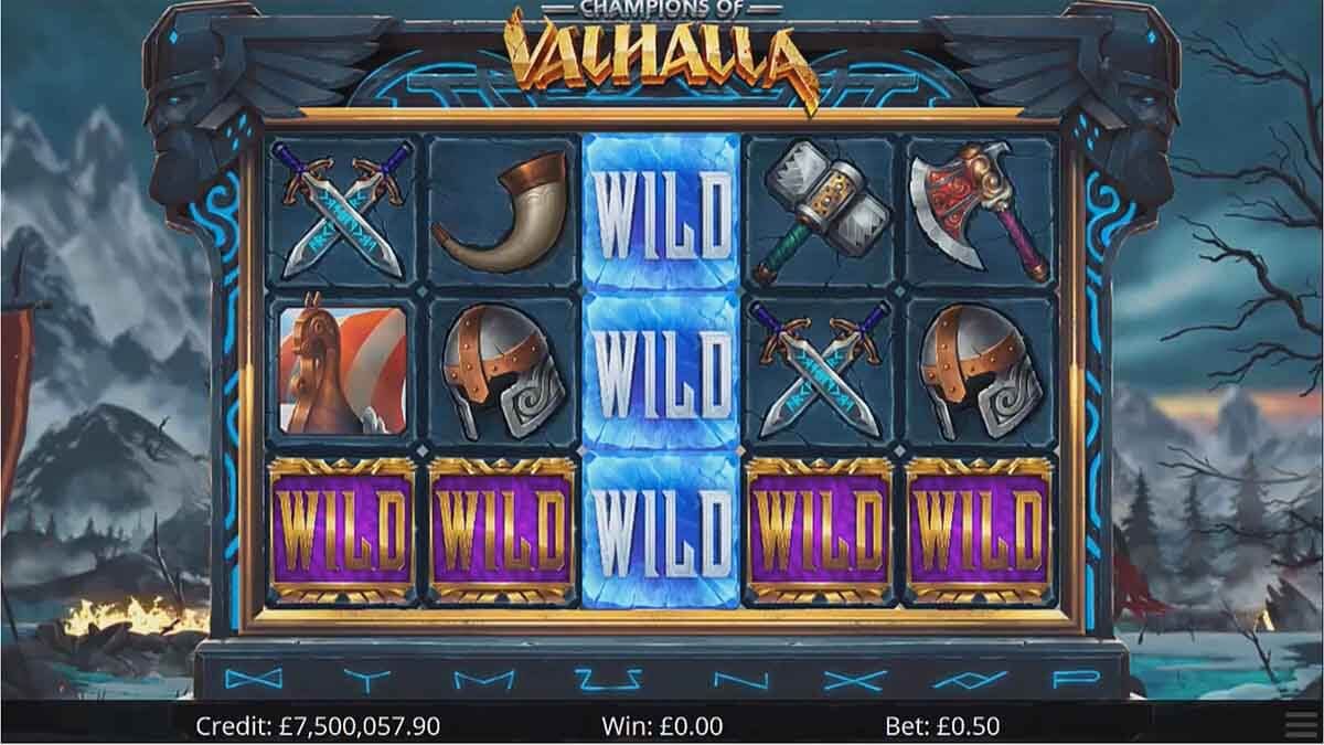 Champions of Valhalla Slot Gameplay