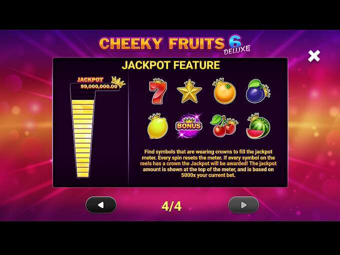 Cheeky Fruits 6 Deluxe Slot Bonus