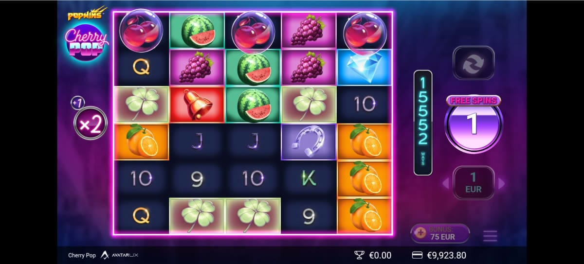 Cherry Pop Slot Bonus
