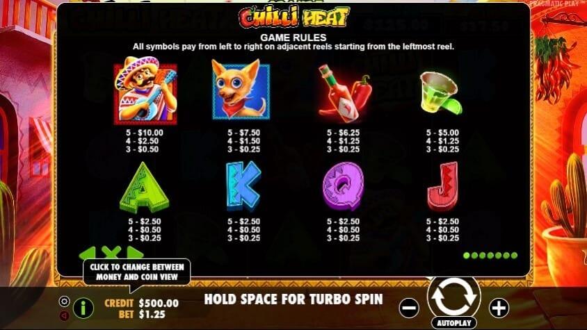Chilli Heat Slot Bonus