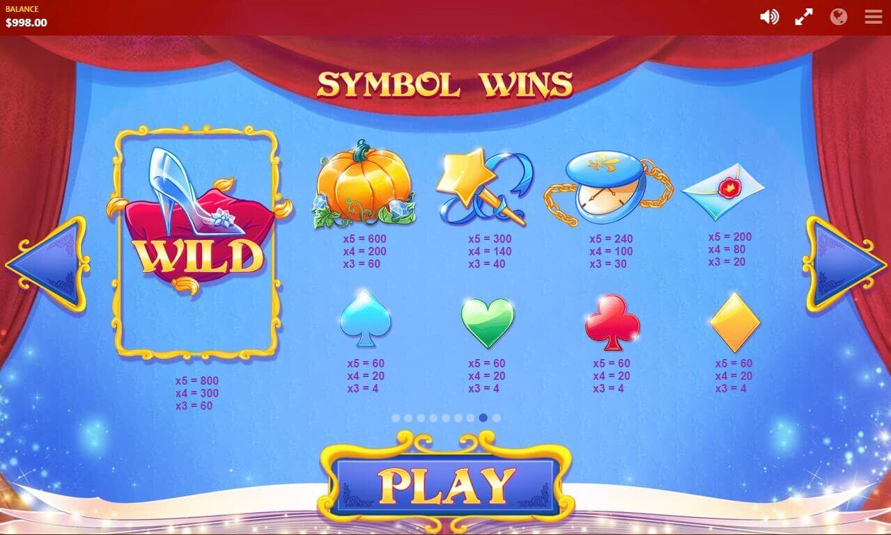 Cinderella's Ball Slot Bonus