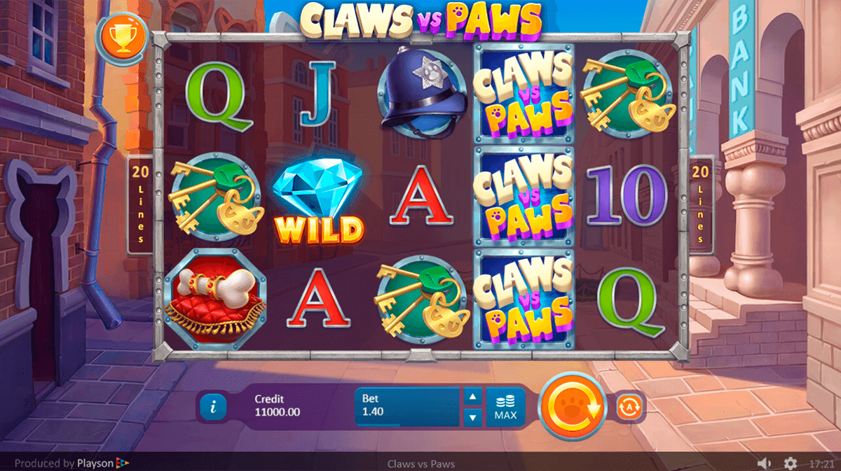 Claws vs Paws Slot Gameplay