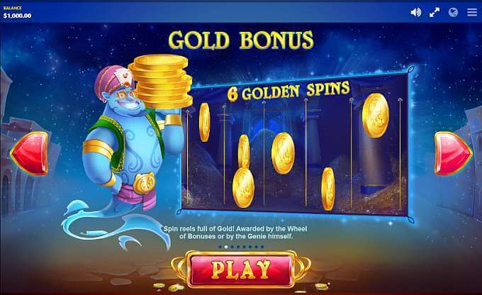 Crazy Genie Slot Bonus
