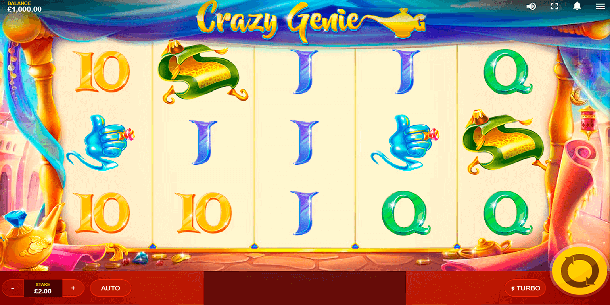 Crazy Genie Slot Gameplay