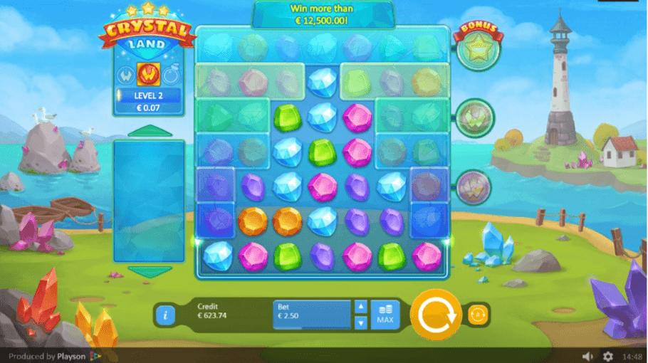 Crystal Land Slot Gameplay