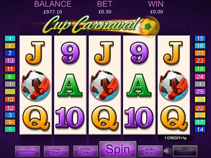 Cup Carnaval Slot Gameplay
