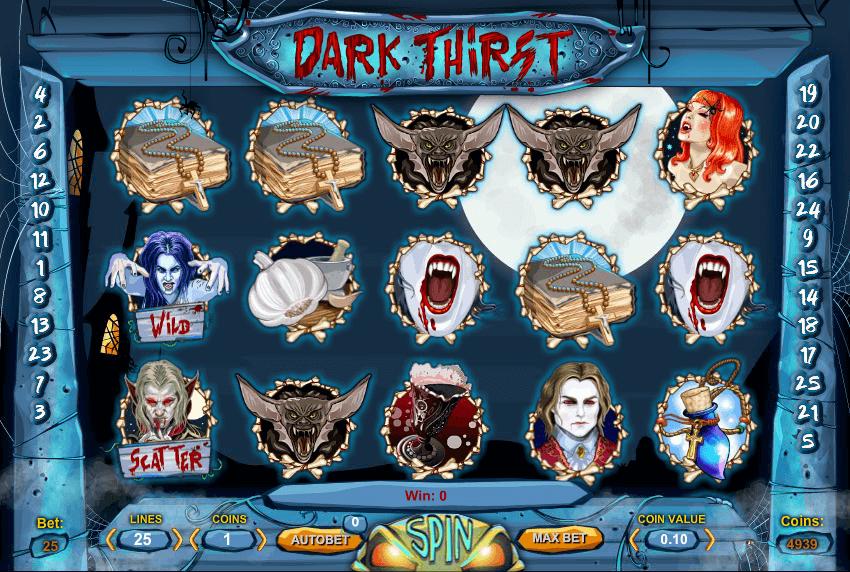 Dark Thirst Slot Gameplay