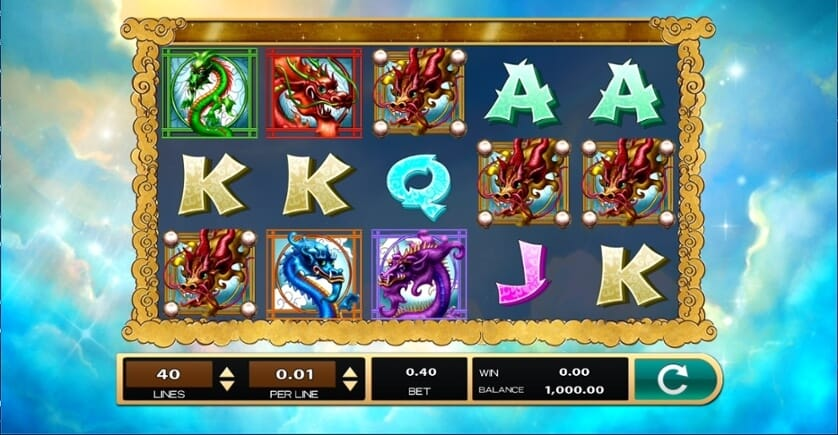 Dazzling Dragons Slot Gameplay