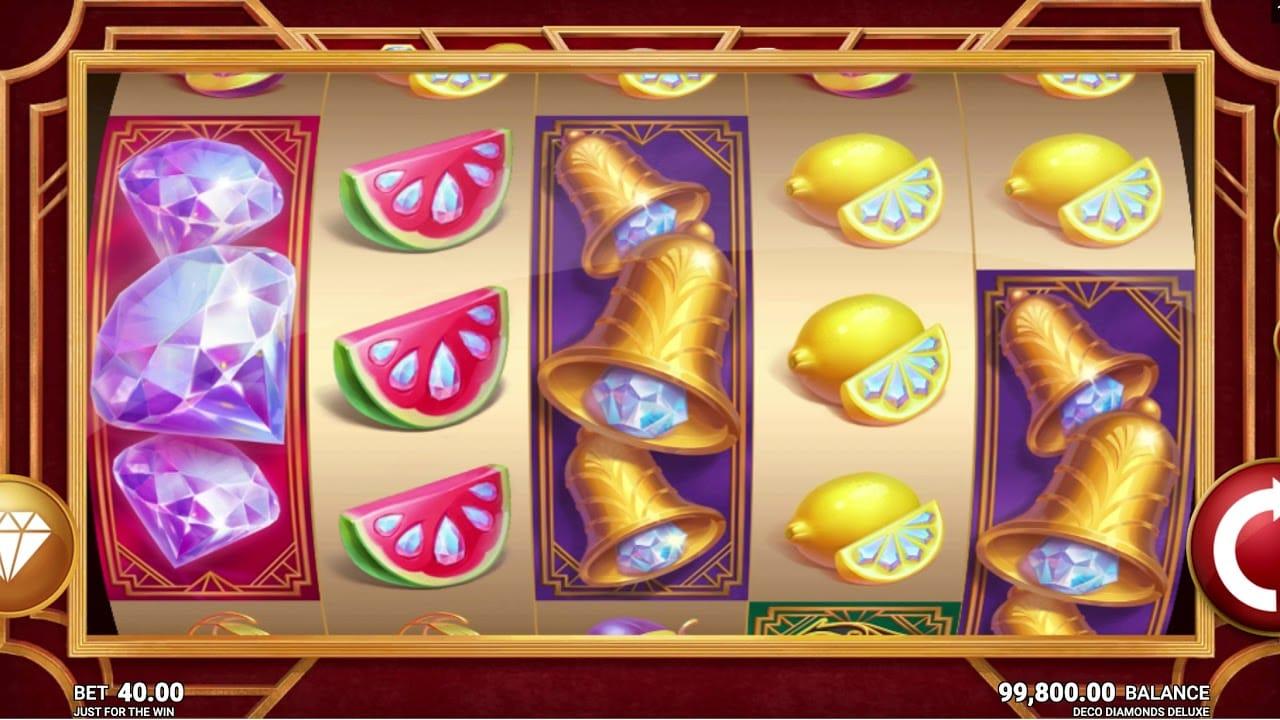 Deco Diamonds Deluxe Slot Gameplay