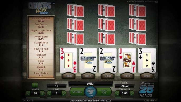 Deuces Wild Double Up Slot Bonus