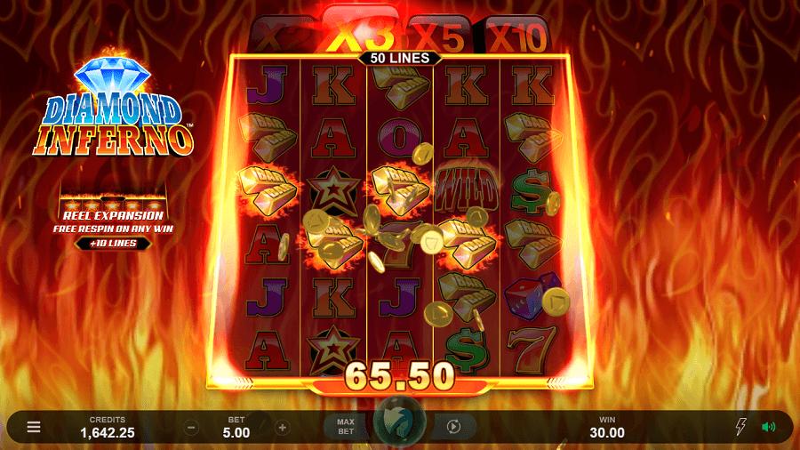 Diamond Inferno Slot Gameplay