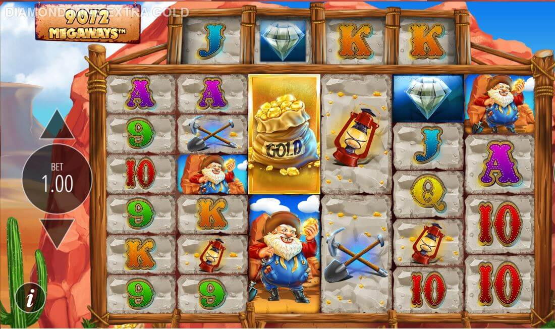 Diamond Mine Extra Gold Slot Bonus