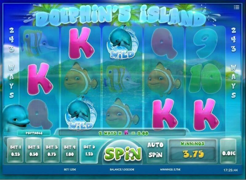 Dolphins Island Slot Gameplay