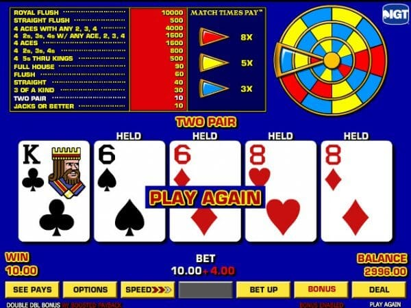 Double Double Bonus Poker Bonus