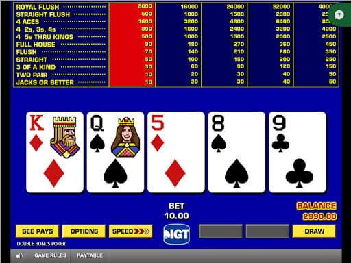 Double Double Bonus Poker Gameplay