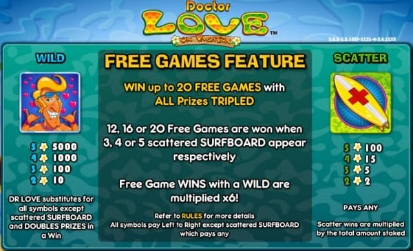 Dr Love on Vacation Slot Bonus