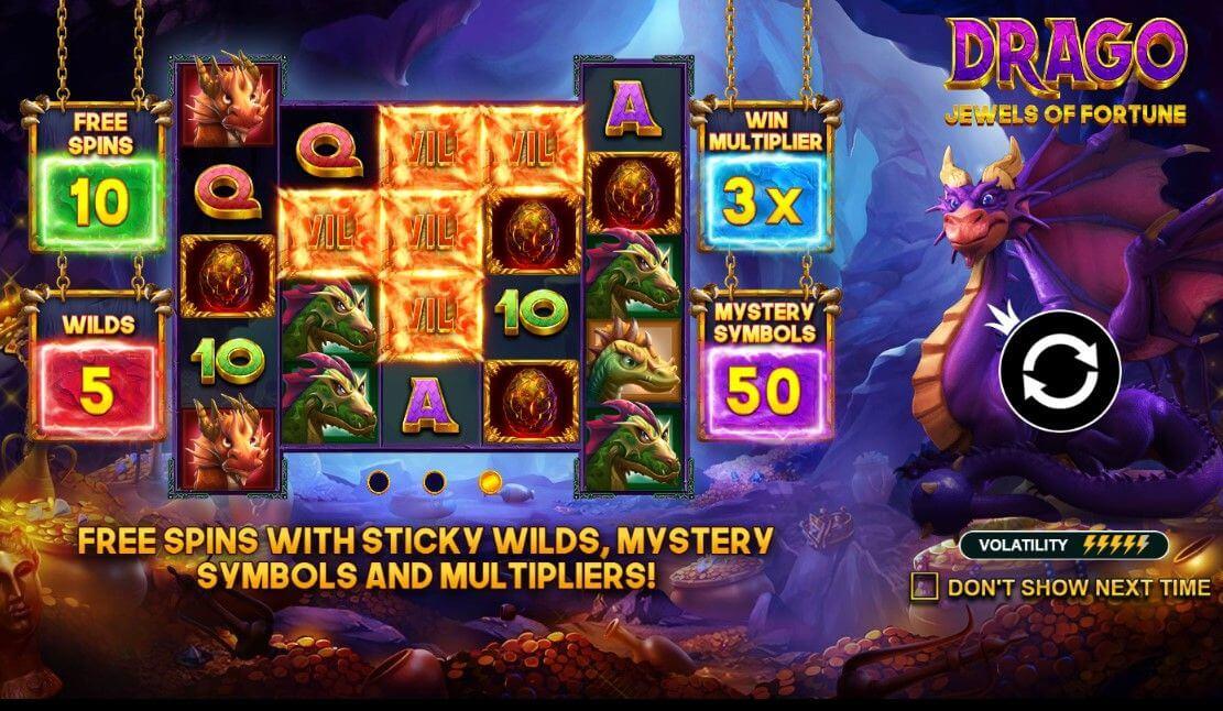 Drago Jewels Of Fortune Slot Bonus