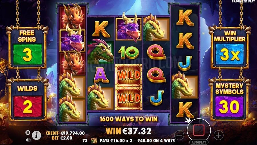 Drago Jewels Of Fortune Slot Gameplay