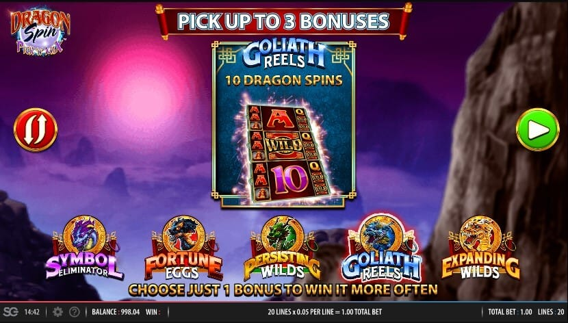 Dragon Spin Pick n Mix Slot Bonus