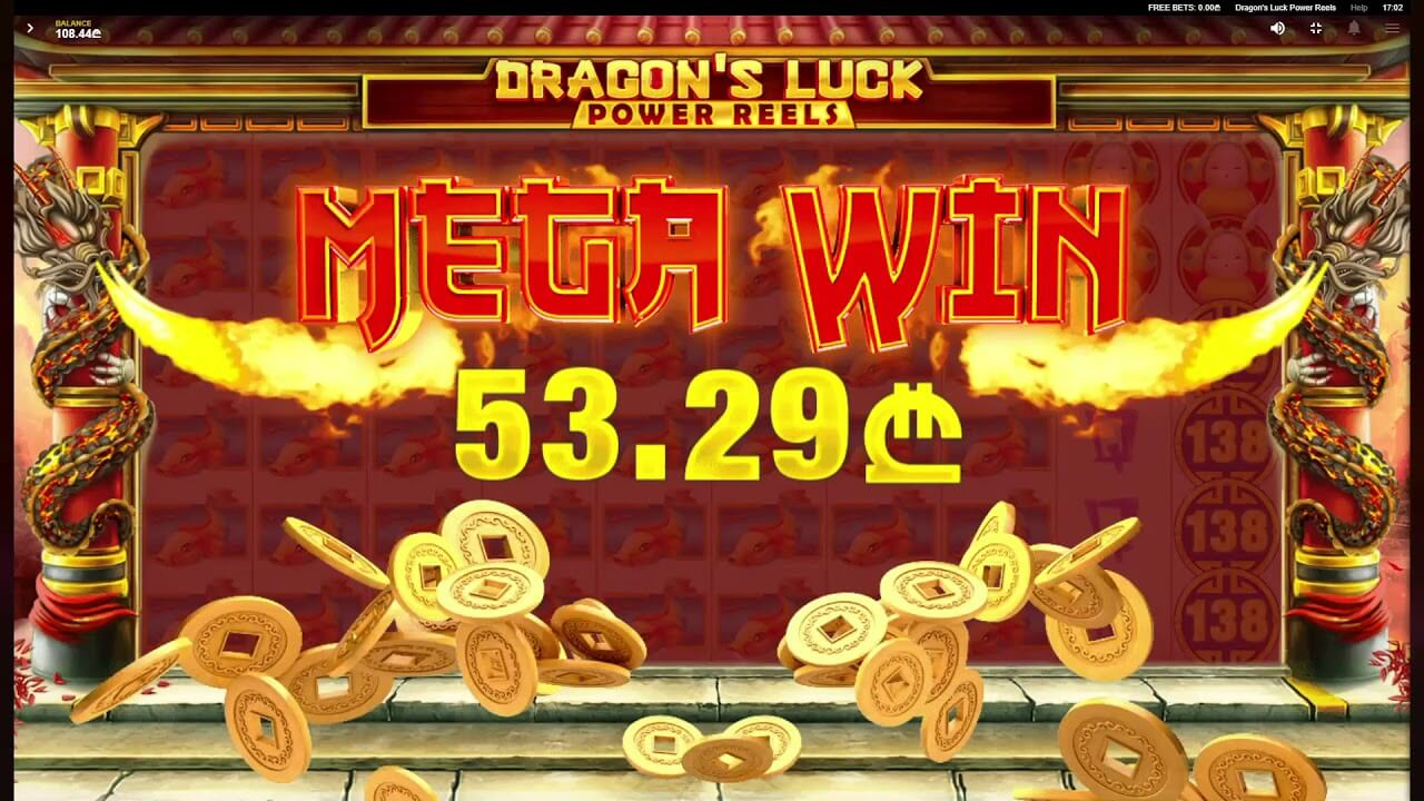Dragon's Luck Power Reels Slot Gameplay