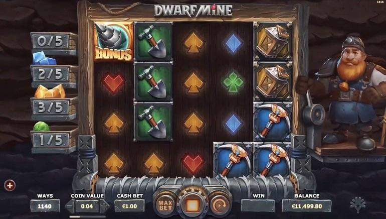 Dwarf Mine Slot Bonus