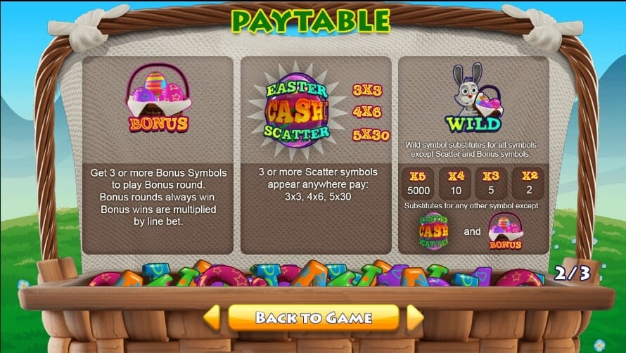 Easter Cash Basket Slot Bonus