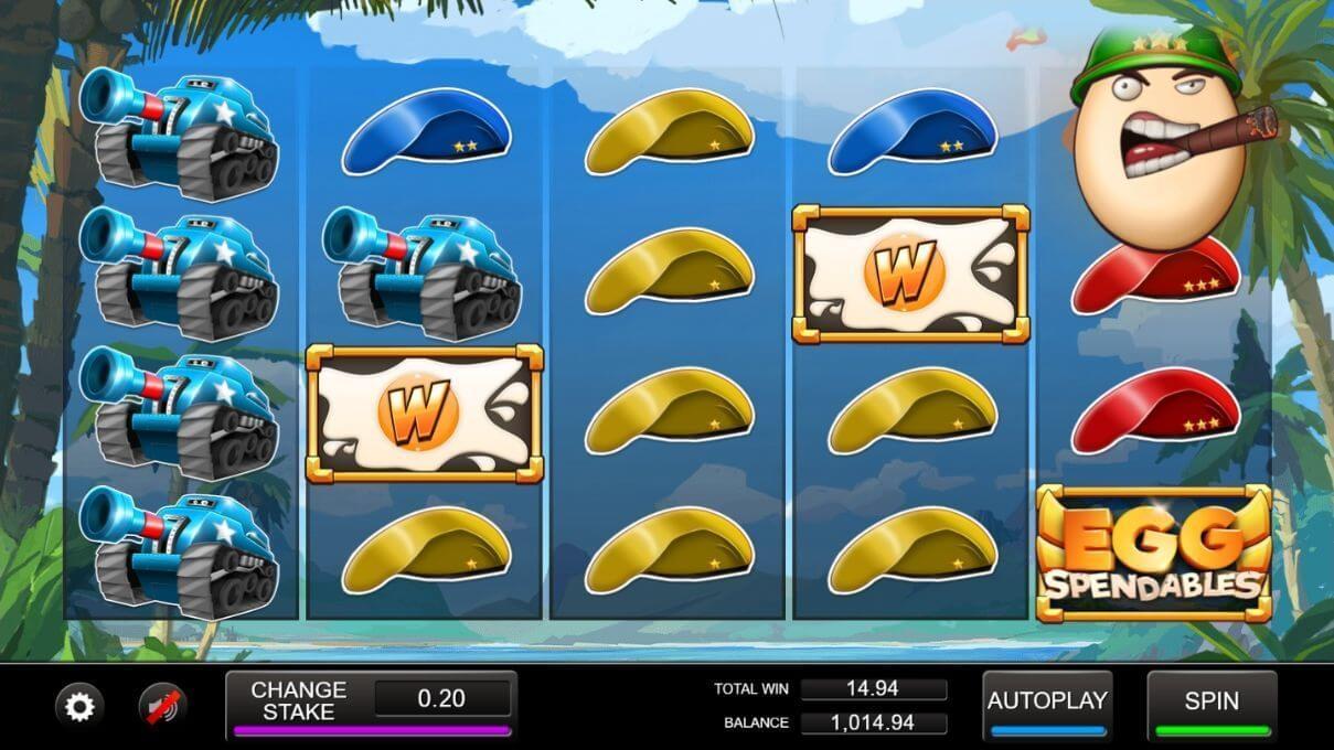 Eggpendables Slot Bonus