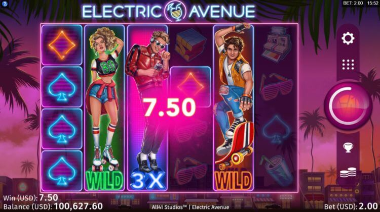 Electric Avenue Slot Bonus