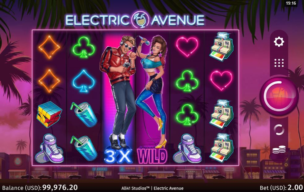 Electric Avenue Slot Gameplay