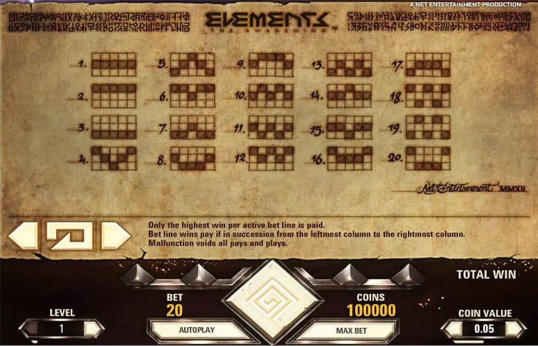 Elements Slot Bonus