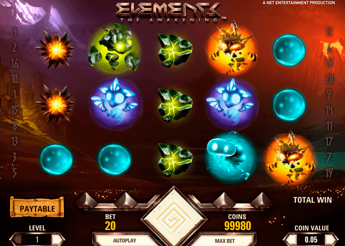 Elements Slot Gameplay