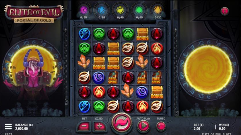 Elite Of Evil Portal Of Gold Slot Gameplay