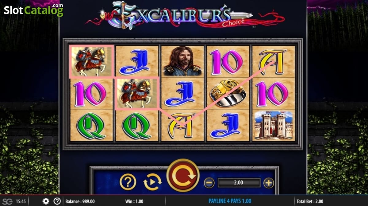 Excalibur's Choice Casino Gameplay