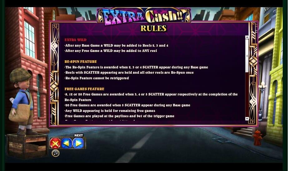 Extra Cash Slot Bonus