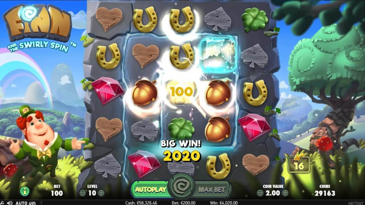 Finn and the Swirly Spin Slot Gameplay