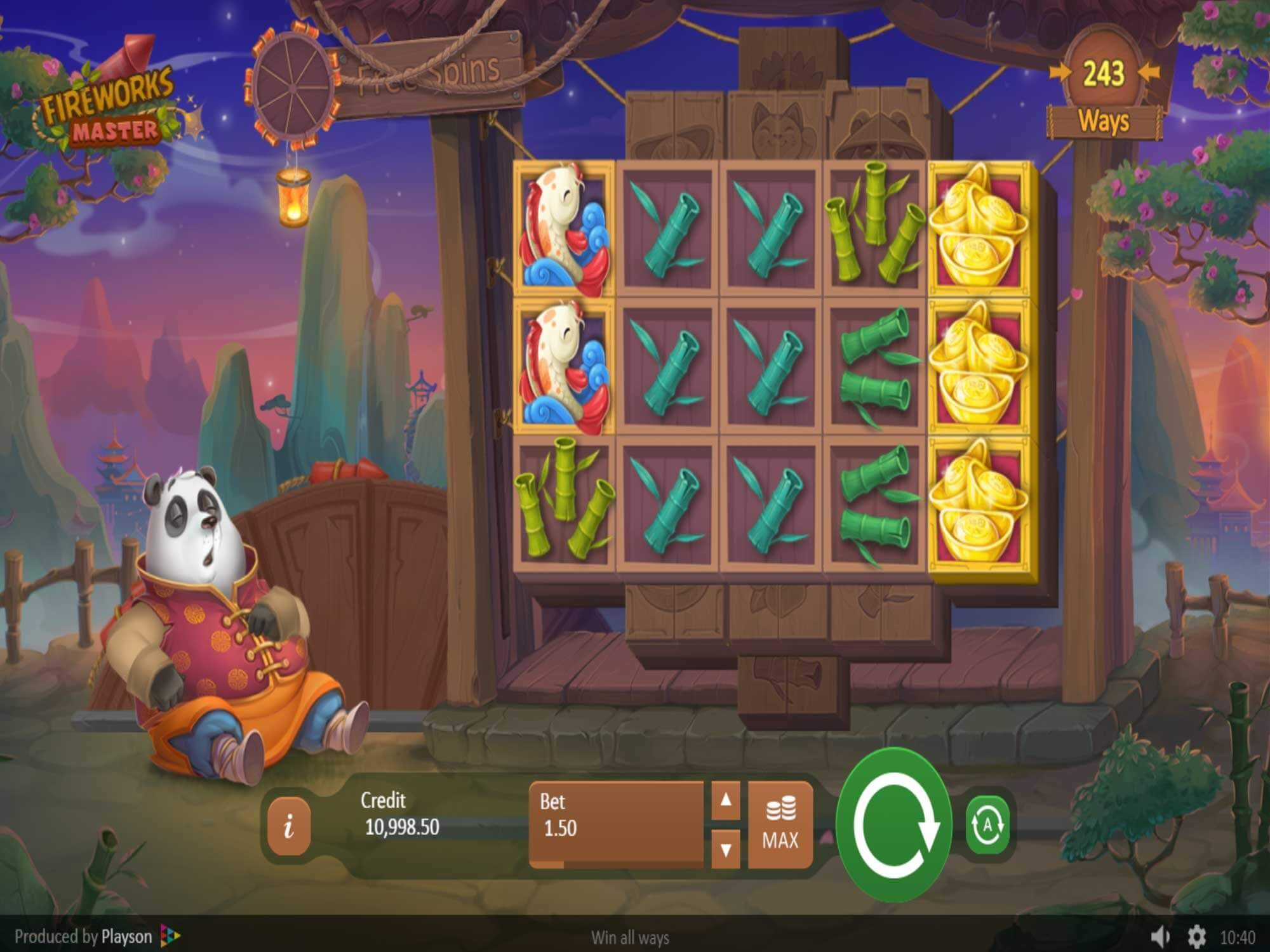 Fireworks Master Slot Gameplay