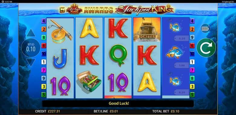 Fishin Frenzy Jackpot King Gameplay